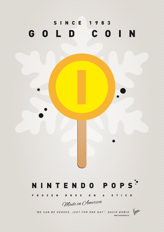 My NINTENDO ICE POP - Gold Coin Canvas Print