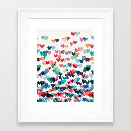 Heart Connections - watercolor painting Framed Art Print