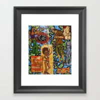 Six Deep Framed Art Print