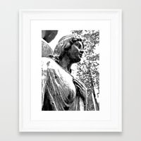 Framed Art Print featuring Cemetery maiden by Vorona Photography