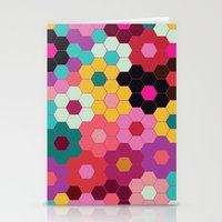 Honeycomb Blooms Stationery Cards