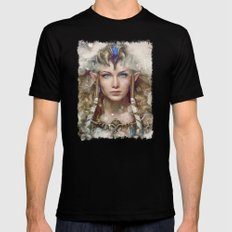 Epic Princess Zelda from Legend of Zelda Painting Mens Fitted Tee Black SMALL