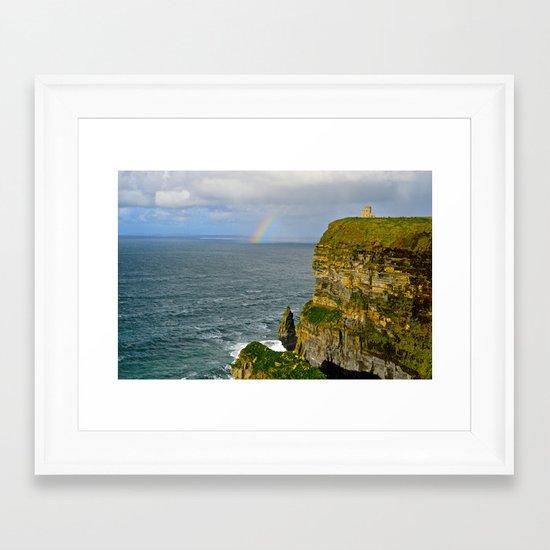 Cliffs of Moher Rainbow Framed Art Print
