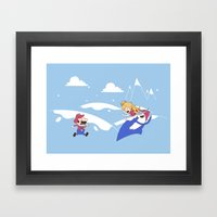 Mario's Adventure Time Framed Art Print