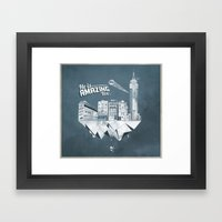 Sick City Framed Art Print
