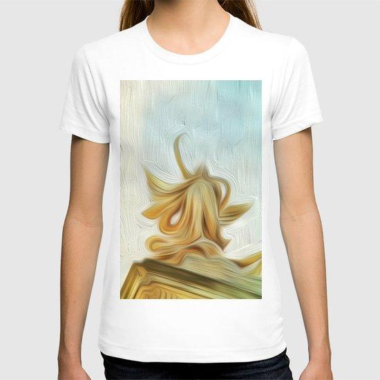 golden hair T-shirt