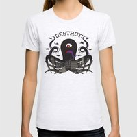 DESTROY! Womens Fitted Tee Ash Grey SMALL