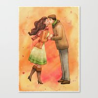 Cold Weather Kiss Canvas Print