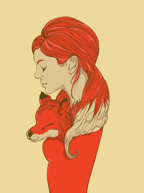 Lady Fox Canvas Print