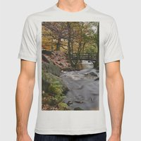 Autumnal Woodland. Padle… Mens Fitted Tee Silver SMALL