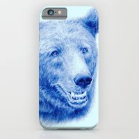 Brown bear is blue iPhone 6 Slim Case