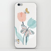 Butterflies And Tulips I… iPhone & iPod Skin