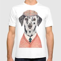 Dalmatian Mens Fitted Tee White SMALL