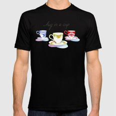 April Black Mens Fitted Tee SMALL