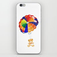 Parachuting Bear 2 iPhone & iPod Skin
