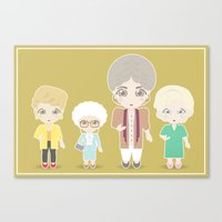 Girls in their Golden Years Canvas Print