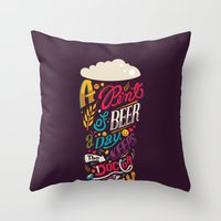 A Pint Of Beer A Day. Ke… Throw Pillow