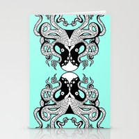 Octopus Mirrored Stationery Cards
