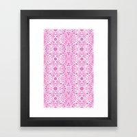 Hot Pink Lace Framed Art Print