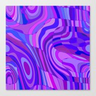 Retro Abstract Pink Blue Canvas Print