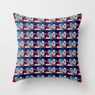 Christmas Present Snowma… Throw Pillow