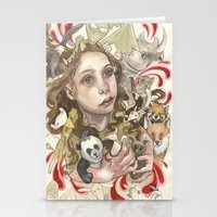 Animal Hugs Stationery Cards