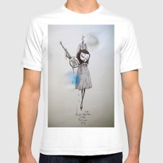 songs that were blue, songs that were grey SMALL Mens Fitted Tee White
