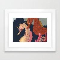 Sea Horses Framed Art Print