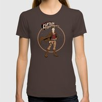 Captain Tightpants Womens Fitted Tee Brown SMALL
