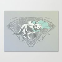 Fearless Creature: Frill Canvas Print
