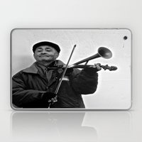 Busking in Belfast 1 Laptop & iPad Skin