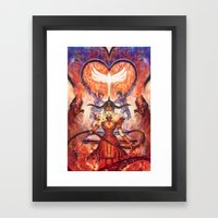 Twisted Lovers Framed Art Print