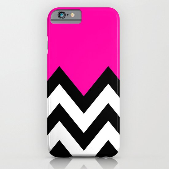 PINK COLORBLOCK CHEVRON iPhone & iPod Case