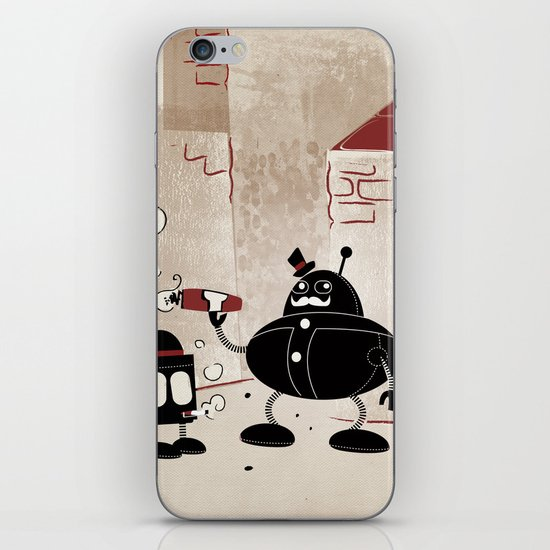 Smoke Break at the Clink Clang Detective Agency iPhone & iPod Skin