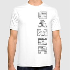 Gamer 2 SMALL Mens Fitted Tee White