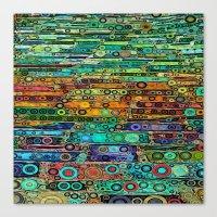 :: Technicolor Walkway :… Canvas Print