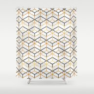 Pretty Geometry 2 Shower Curtain