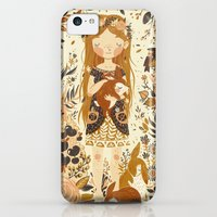 iPhone 5c Cases featuring The Queen of Pentacles by Teagan White