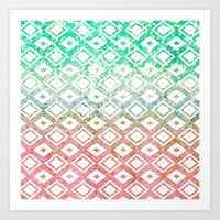 Diamond Rain Merge Art Print