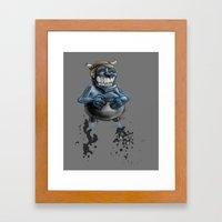 Possibly a Tricky Warrior Dwarf Demon Framed Art Print