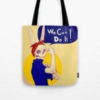 female bunnism Tote Bag