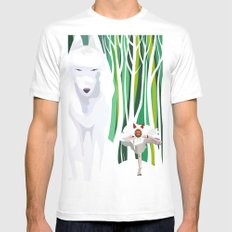 Princess Mononoke Mens Fitted Tee White SMALL