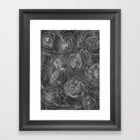 Inverse Contours Framed Art Print