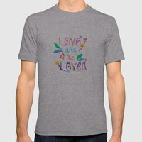 Love and be Loved Mens Fitted Tee Athletic Grey SMALL