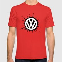 VW Splat Mens Fitted Tee Red SMALL