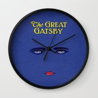 Great Gatsby Poster Wall Clock