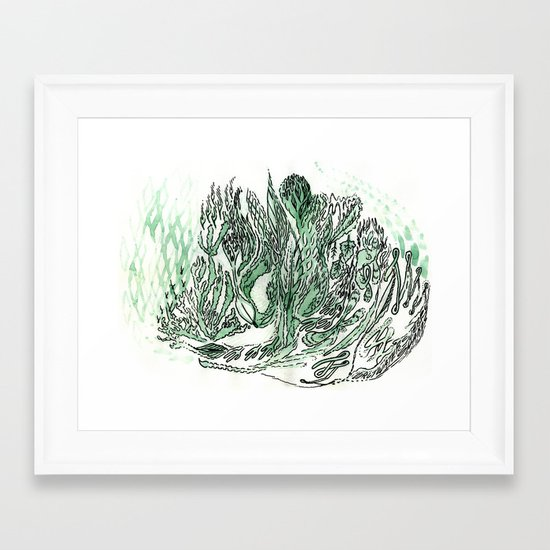 saltwater sleepy shakes Framed Art Print