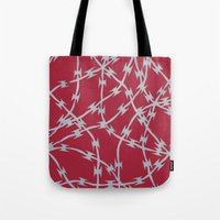 Trapped Red Tote Bag