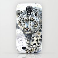 Galaxy S4 Cases featuring snow leopard by KOSTART