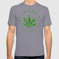 Cannabis Mens Fitted Tee Slate SMALL